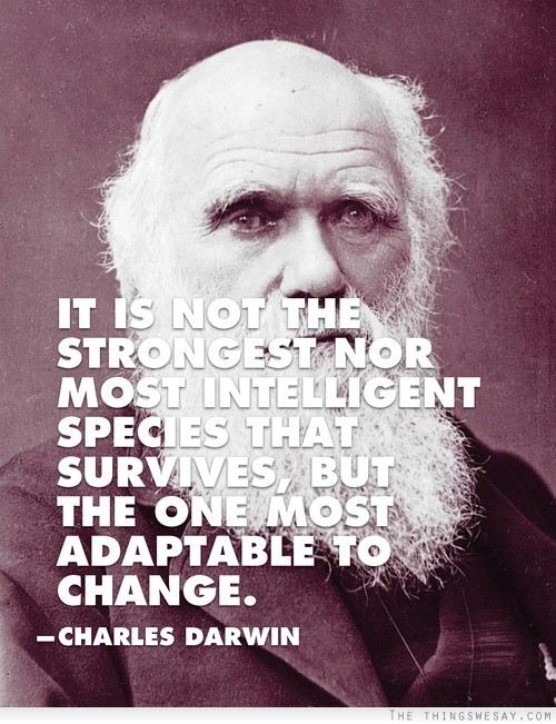 It Is Not The Strongest Nor Most Intelligent Species That Survives, But The One Most Adaptable To Change. - Charles Darwin