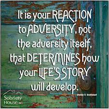 It Is Your Reaction To Adversity, Not The Adversity Itself, That Determines How Your Life's Story Will Develop