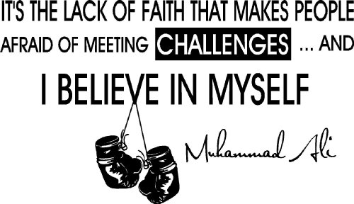 It's The Lack Of Faith That Makes People Afraid Of Meeting Challenges And I Believe In Myself. ~ Boxing Quotes