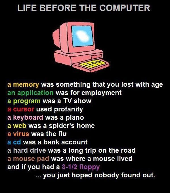Life Before The Computer ~ Computer Quote
