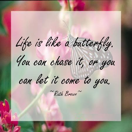 Like Is Like A Butterfly. You Can Chase It, Or You Can Let It Come To You. - Rath Brown