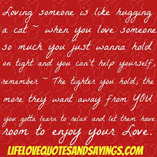 Loving Someone Is Like Hugging A Cat, When You Love Someone So Much You Just Wanna Hold On Tight And You Can't Help Yourself…