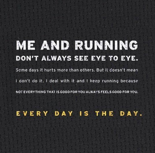 Me And Running Don't Always See Eye To Eye. Some Days It Hurts More Than Others. But It Doesn't Mean I Don't Do It… ~ Body Quotes