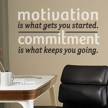 Motivation Is What Gets You Started. Commitment Is What Keeps You Going.