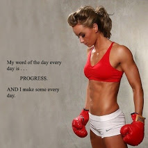 My Word Of The Day Every Day Is Progress And I Make Some Every Day. ~ Boxing Quotes