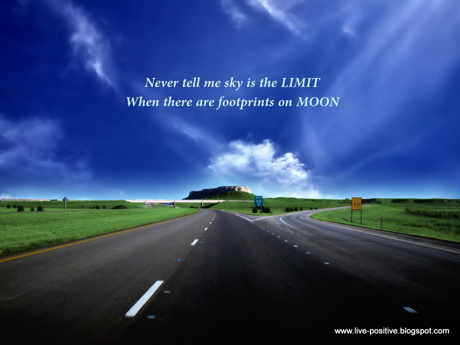 Never Tell Me Sky Is The Limit When There Are Footprints On Moon