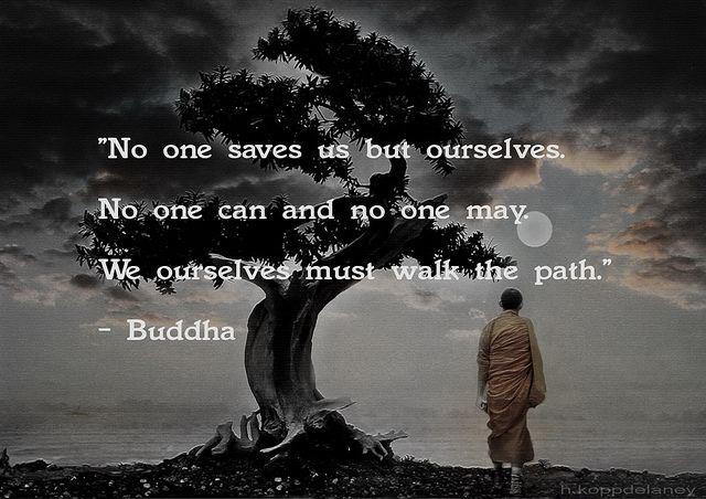 """"""" No One Saves Us But Ourselves. No One Can And No One May. We Ourselves Must Walk The Path """" - Buddha"""