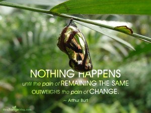 Nothing Happens Until The Pain Of Remaining The Same Outweighs The Pain Of Change. - Arthur Burt