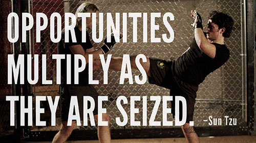 Opportunities Multiply As They Are Seized. - Sun Tzu ~ Boxing Quotes ~ Boxing Quotes