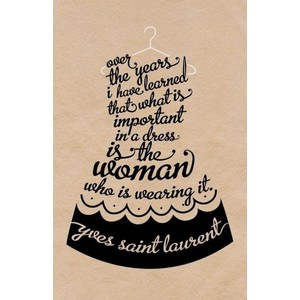Over The Years I Have Learned That What Is Important In A Dress Is The Woman Who Is Wearing It. - Yves Saint Laurent ~ Clothing Quotes