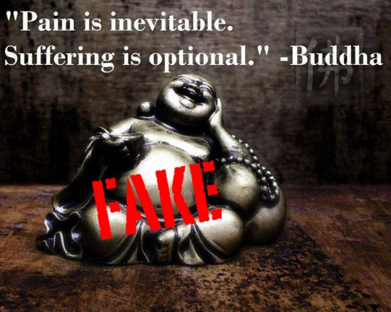 """ Pain Is Inevitable. Suffering Is Optional "" - Buddha"
