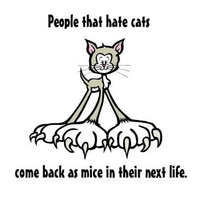 People That Hate Cats Come Back As Mice In Their Next Life.