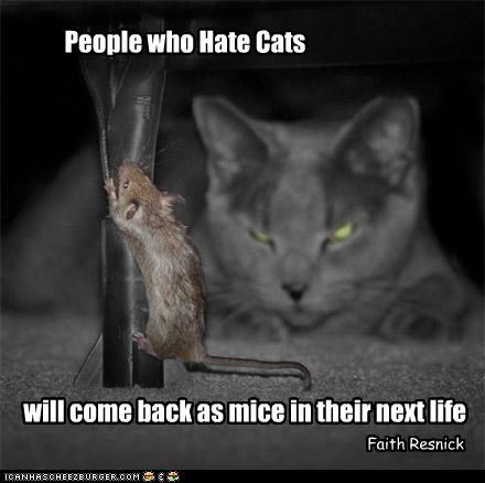 People Who Hate Cats Will Come Back As Mice In Their Next Life. - Faith Resnick