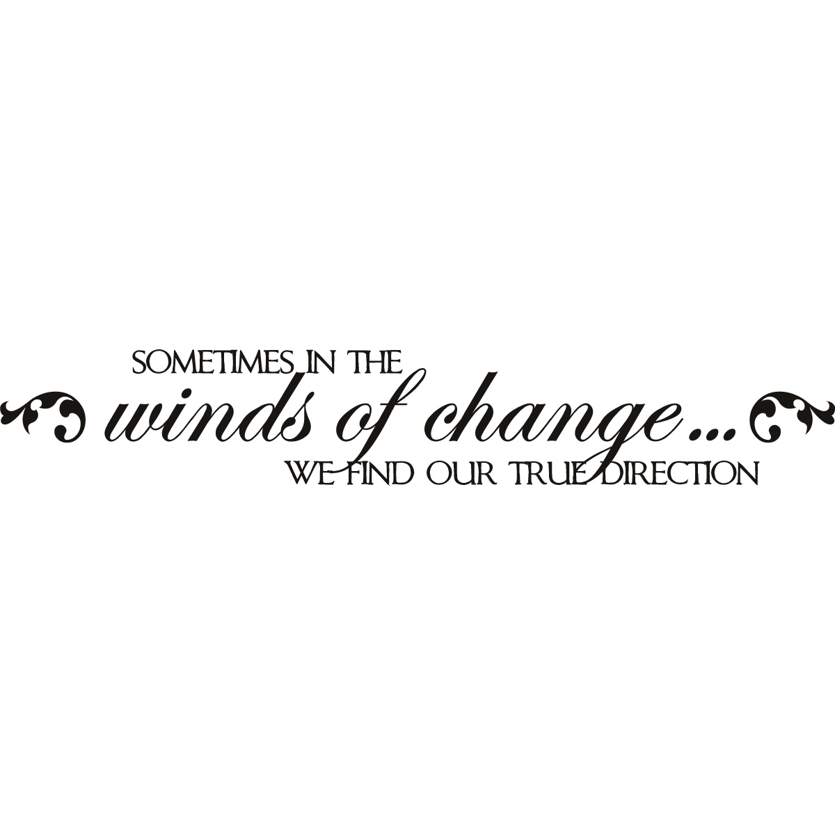 Sometimes In The Winds Of Change We Find Our True Direction