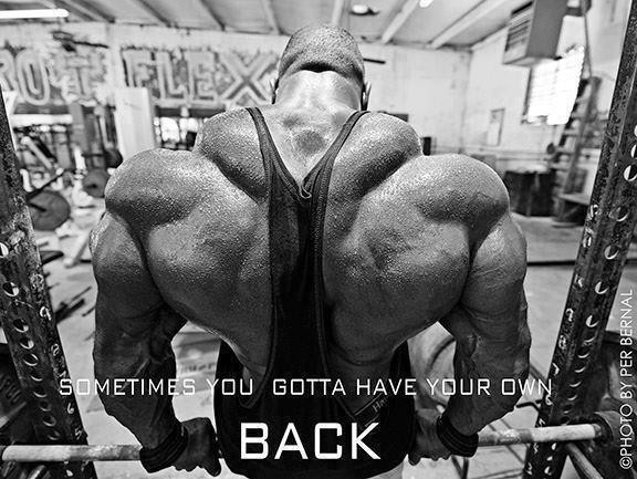 Sometimes You Gotta Have Your Own Back. ~ Body Quotes