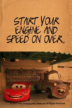 Start Your Engine And Speed On Over. ~ Car Quotes