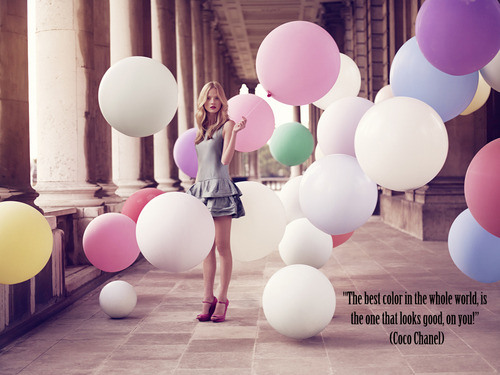 """"""" The Best Color In The Whole World, Is The One That Looks Good, On You """" - Coco Chanel ~ Clothing Quotes"""