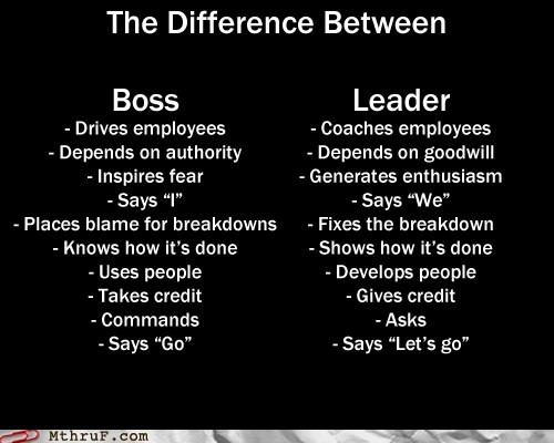 The Difference Between Boss n Leader..
