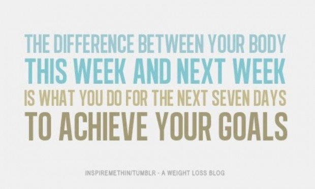 The Difference Between Your Body This Week And Next Week Is What You Do For The Next Seven Days To Achieve Your Goals.