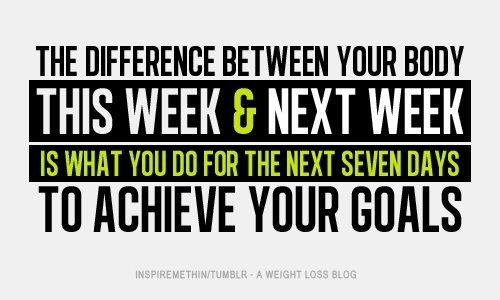 The Difference Between Your Body This Week & Next Week Is What You Do For The Seven Days To Achieve Your Goals.