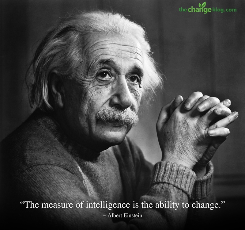 """ The Measure Of Intelligence Is The Ability To Change "" - Albert Einstein"