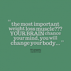 """ The Most Important Weight Loss Muscle, Your Brain Chance Your Mind, You Will Change Your Body """
