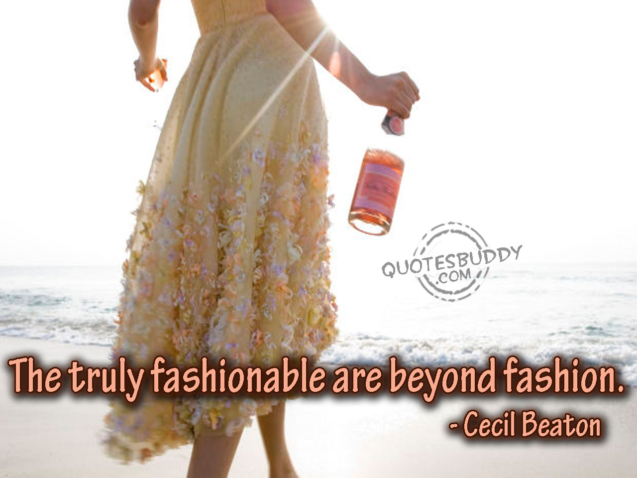 The Truly Fashionable Are Beyond Fashion. - Cecil Beaton ~ Clothing Quotes