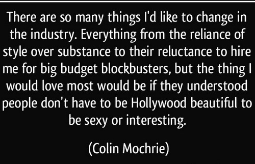 There Are So Many Things I'd Like To Change In The Industry… - Colin Mochrie