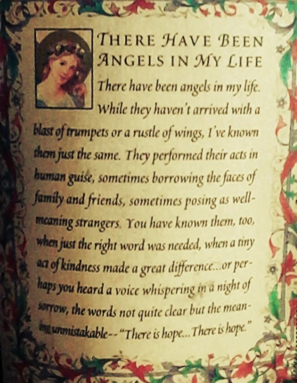 There Have Been Angels In My Life…