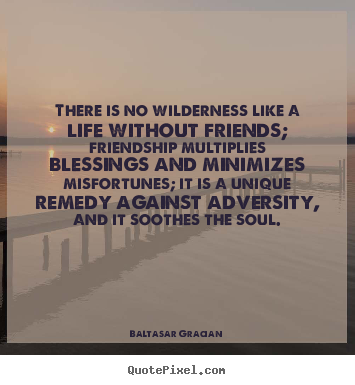 There Is No Wilderness Like A Life Without Friends, Friendship Multiplies Blessings And Minimizes Misfortunes, It Is A Unique Remedy Against Adversity, And Soothes The Soul
