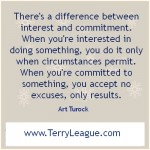 There's A Difference Between Interest And Commitment. When You're Interested In Doing Something, You Do It Only When Circumstances Permit…. - Art Turock