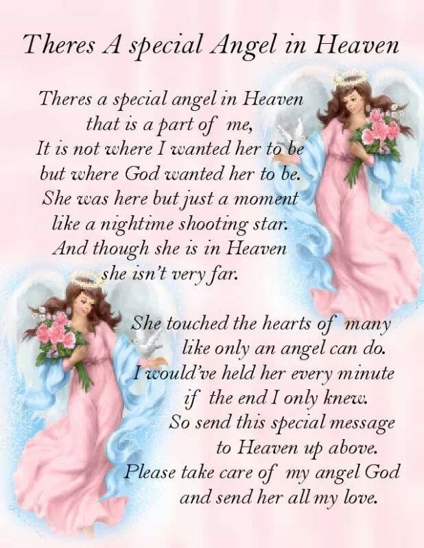 Theres A Special Angel In Heaven…