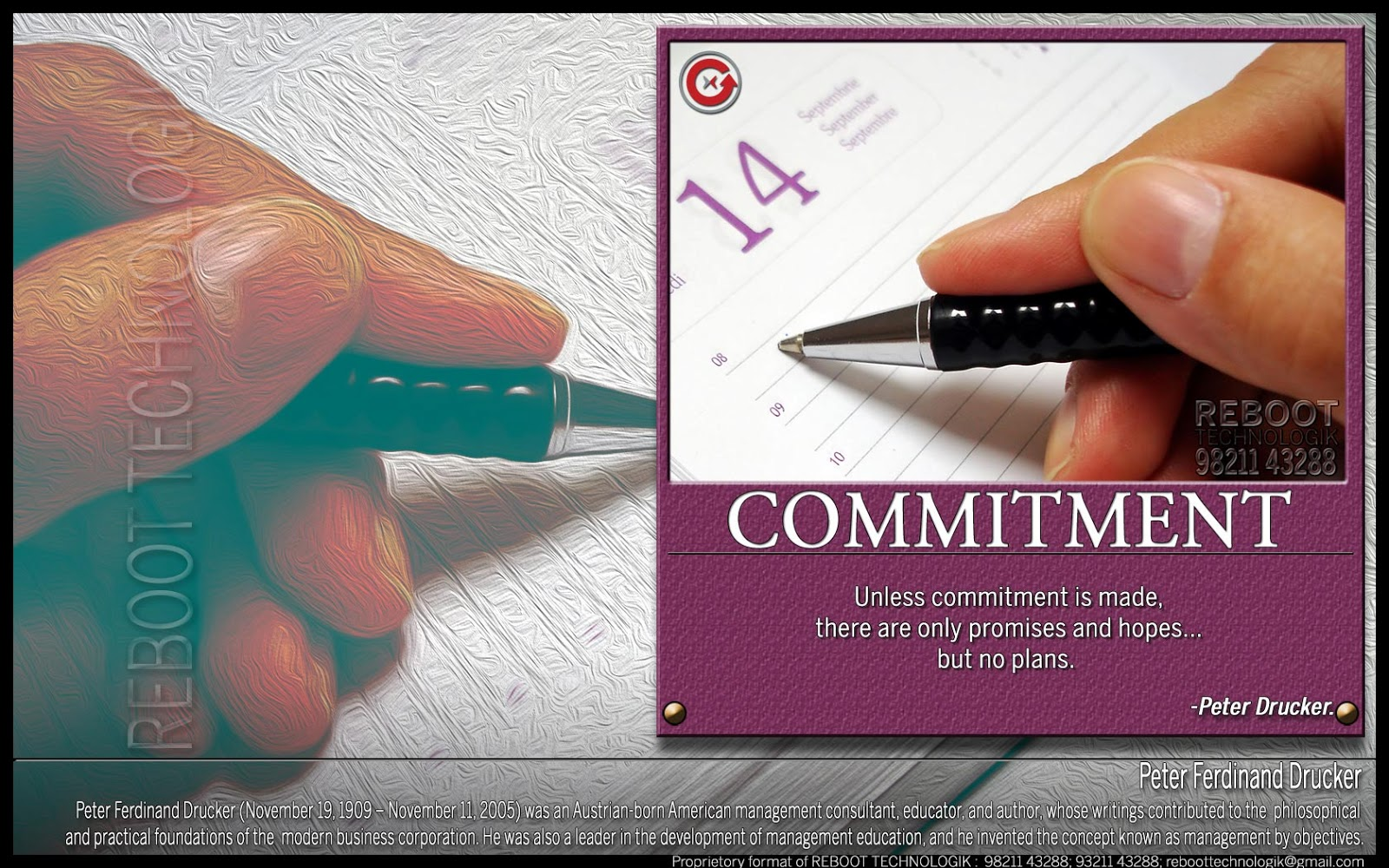 Unless Commitment Is Made, There Are Only Promises And Hopes But No Plans. - Peter Drucker