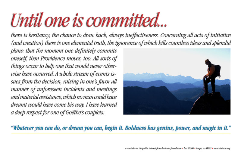 Until One Is Committed…