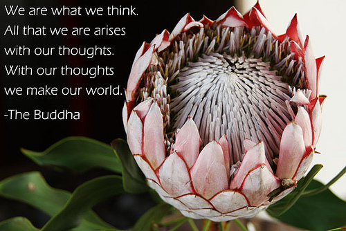 We Are What We Think. All That We Are Arises With Our Thoughts. With Our Thoughts We Make Our World. - The Buddha