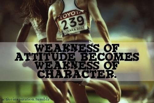 Weakness Of Attitude Becomes Weakness Of Character. ~ Body Quotes