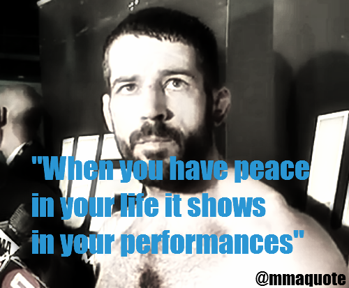""""""" When You Have Peace In Your Life It Shows In Your Performances """" ~ Boxing Quotes"""