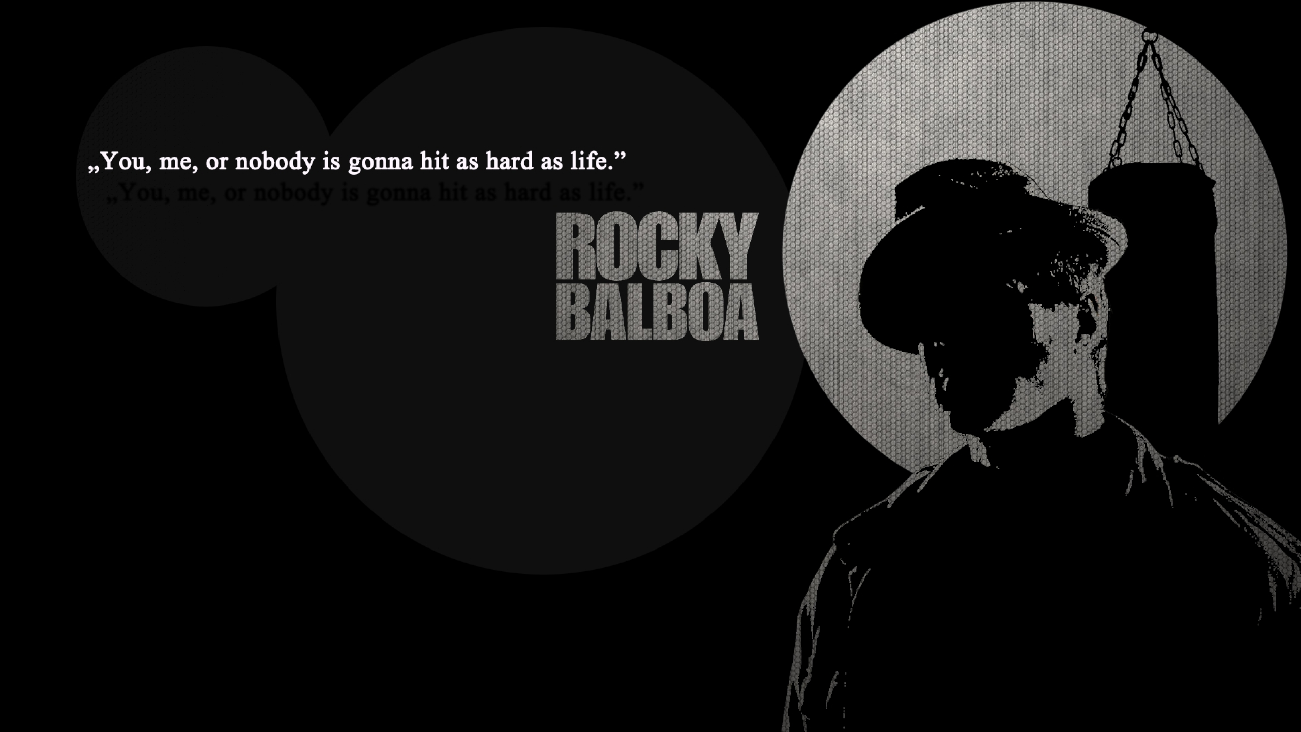 Rocky Balboa Life Is Hard Quote: You, Me, Or Nobody Is Gonna Hit As Hard As Life ""