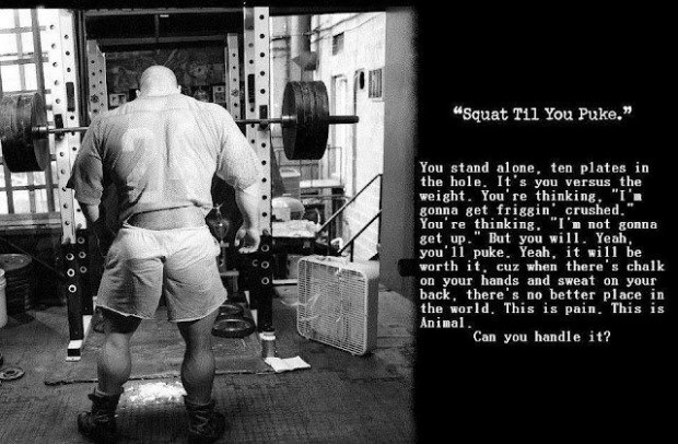 You Stand Alone, Ten Plates In The Hole. It's You Versus The Weight. You're Thinking. I'm Gonna Get Friggin… ~ Body Quotes