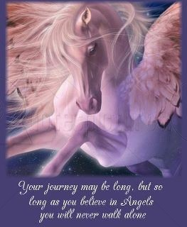 Your Journey May Be Long, But So Long As You Believe In Angels You Will Never Walk Alone.