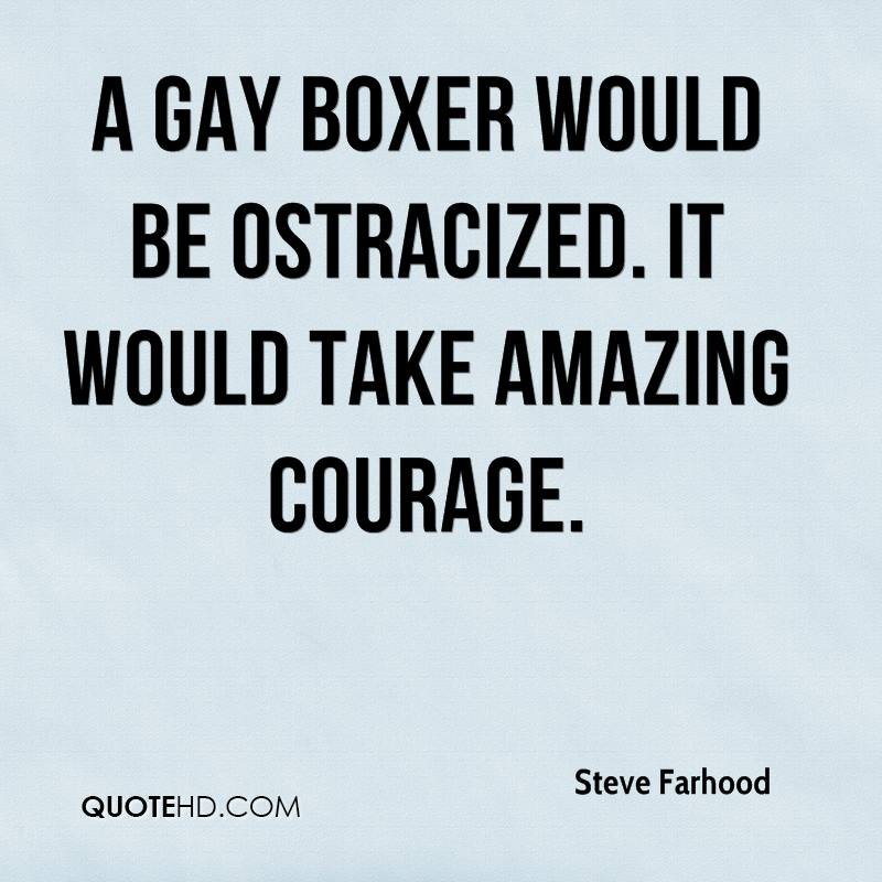 A Gay Boxer Would Be Ostracized. It Would Take Amazing Courage.