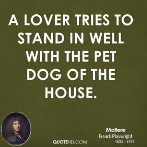 A Lover Tries To Stand In Well With The Pet Dog Of The House.