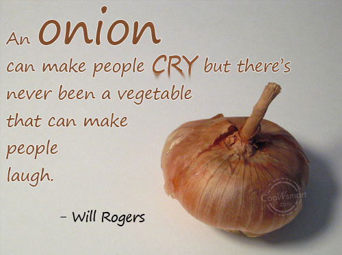 how to make someone cry with an onion