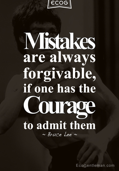 Bruce Lee Quotes Mistakes