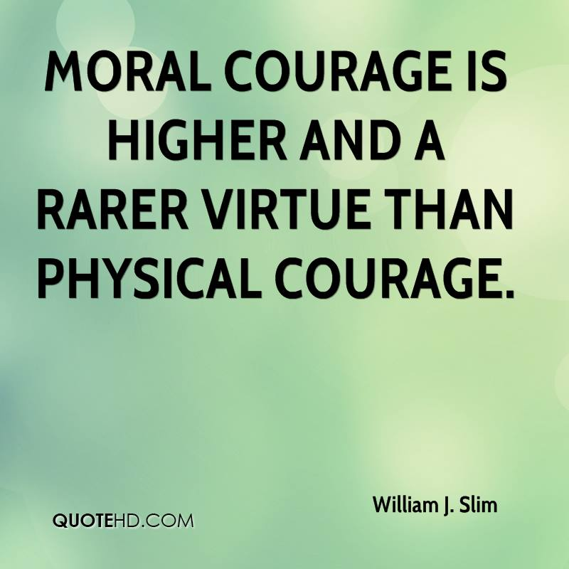essay on moral courage