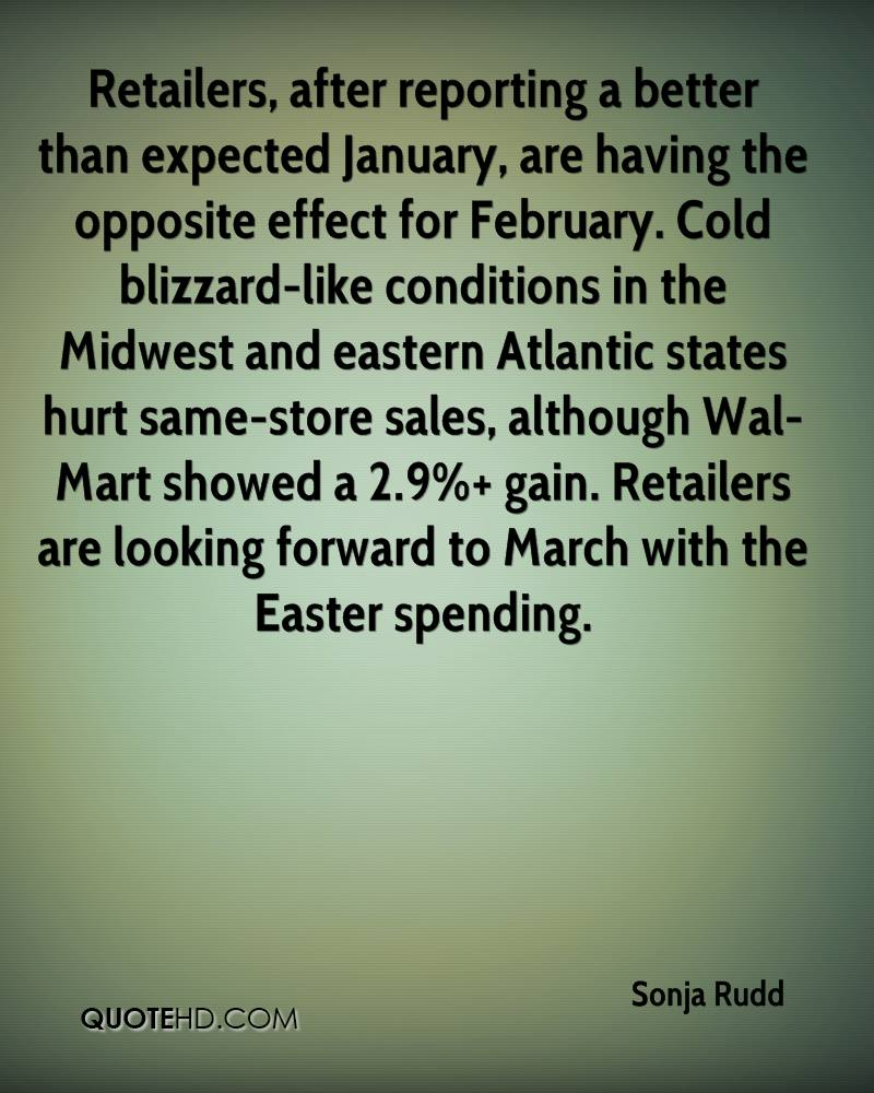 Retailers, After Reporting A Better Than Expected January, Are Having The Opposite Effect For February.. - Sonja Rudd