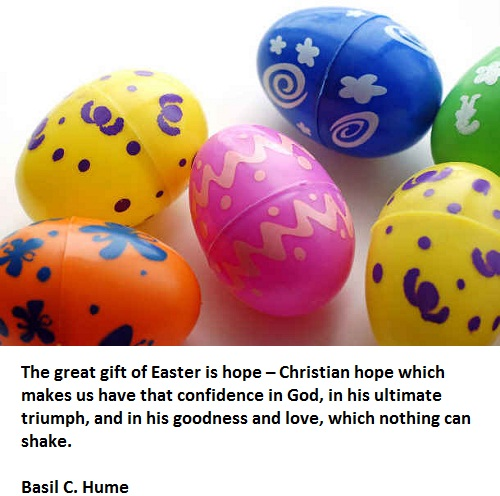 The great gift of easter is hope christian hope which makes us have the great gift of easter is hope christian hope which makes us have that confidence in god in his ultimate triumph and in his goodness and love negle Image collections