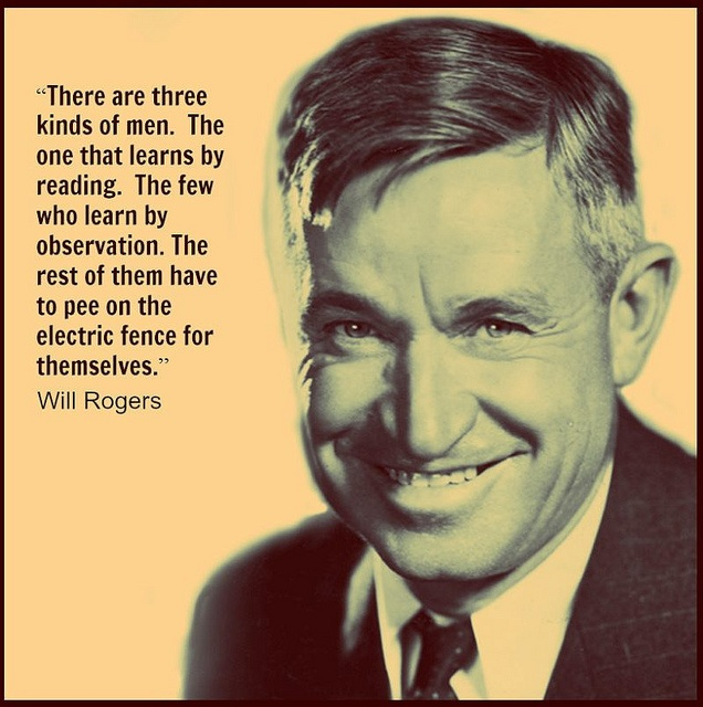Reading Quotes Will Rogers