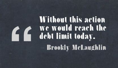 """""""Without This Action We Would Reach The Debt Limit Today."""""""