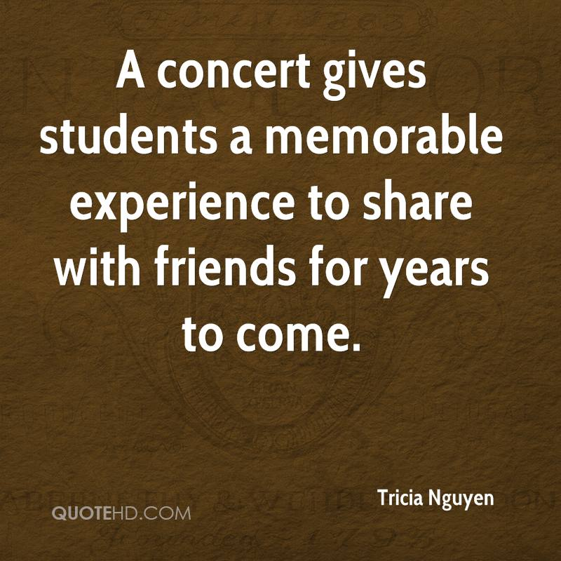 A Concept Gives Students A Memorable Experience To Share With